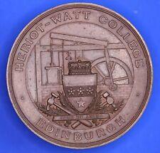 More details for edinburgh heriot-watt college bronze medallion, german 1910-11, 48mm [21402]