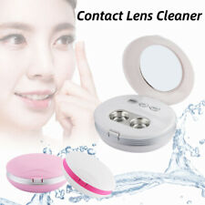 Ultrasonic Contact Lens Auto Cleaner Eye Protein Cleaning Case with USB Kits