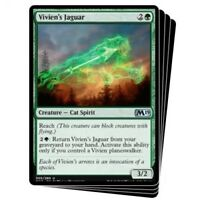 MTG x4 Vivien's Jaguar Core Set 2019 M19 Uncommon Green NM/M Magic the Gathering