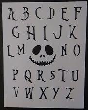 Nightmare Before Christmas Font Alphabet 8.5