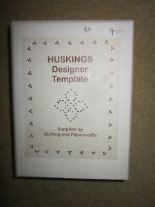 Huskings designer template for quilling