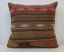 16'' x 16'' Kilim Pillow Cover,Pillow Cover,Brown Pillows,Brown Pillow Cover