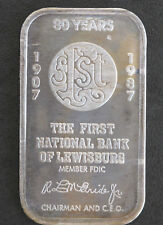 1987 SilverTowne First National Bank of Lewisburg Silver Art Bar ST-77V P1651