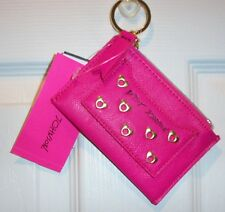 NWT BETSEY JOHNSON TOP ZIP  *HEART-LETTE TOP FUSCHIA* COIN PURSE
