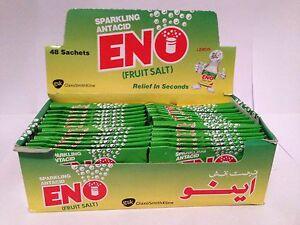 ENO FRUIT SALT 48 SACHETS LEMON FAST REFRESHING RELIEF BRAND NEW FREE P&P