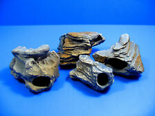 4pcs Cichlid Stone Ceramic Aquarium Rock Cave Decoration Moss Java Tropical Fish