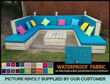 WATERPROOF CUSHION - OUTDOOR PALLET RATTAN CANE SOFAS & CHAIRS GARDEN FURNITURE