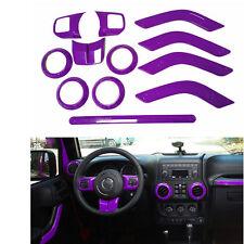 12pcs Purple Interior Accessories For Jeep JK JKU 4-door 2011-2016
