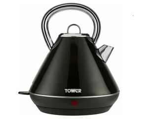 TOWER INFINITY 1.8 LT RAPID BOIL BLACK TRADITIONAL KETTLE 3000W REMOVABLE FILTER