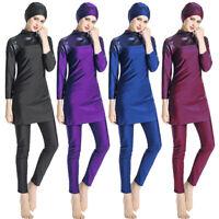 Lady Muslim Modesty Swimwear Swimsuit Full Cover Islamic Beachwear Arab Burkini