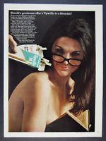1968 sexy librarian glasses photo Tiparillo Cigars vintage print Ad