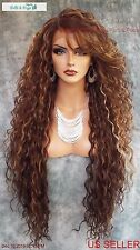 "36"" X-LONG LACE FRONT DEEP C-PART HIGH HEAT SAFE WIG COLOR FS8.27.613 SEXY 233"