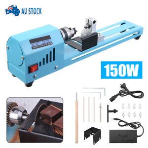 High Quality 150W DIY Mini Wood Lathe Bead Cutting Machine Drill Polishing Tool