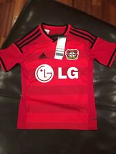 Adidas 2014-15 Bayer Leverkusen Home Jersey, Size Youth Small (9-10 Years)