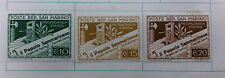 3x Poste Rep. San Marino Press Propaganda 1943 Stamps Mint On Hinges