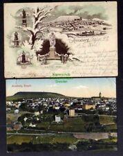 130465 2 AK Annaberg 1897 Denkmale Adam Ries Luther Barbara Uttmann Herzog