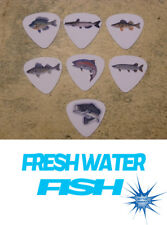 Fresh water Fish  SINGLE SIDED PICTURE GUITAR PICKS  Set of 7