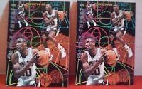 Lot of 2 David Robinson 1994-95 Fleer Triple Threats Insert Cards Basketball