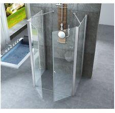 Box doccia a tre lati 6mm con doppia apertura a saloon cristallo trasparente |5