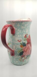 NEW! Pioneer Woman Cheerful Rose Holiday Christmas Pitcher