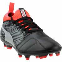 Puma One 18.3 Firm Ground Cleats  Casual Soccer  Cleats Black Mens - Size 10 D