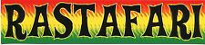 RASTAFARI (black on rasta colors) STICKER **FREE SHIPPING** - bob marley reggae