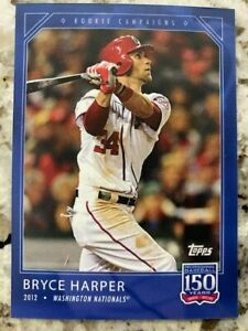 TOPPS 150 YEARS of BASEBALL ROOKIE CAMPAIGNS CARD NATIONALS BRYCE HARPER #12