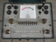 Vintage 1955 Allied Radio Knight (Kit) Vacuum Tube Tester, Used w/Case & Manual