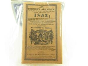 Miniature Collector's 1853 Farmer's Almanac For Dollhouse E367