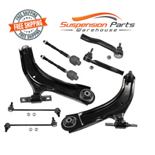 Suspension Kit Lower Arm Sway Bar Tie Rod End Set Fits Nissan Rogue 2008-2013