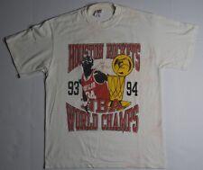 New listing Rare Vintage Houston Rockets 90's Championship Autograph Print T Shirt Size M