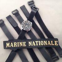 ⚓️⚓️ Bracelet Marine Nationale pour montre Tudor Auricoste ZRC MN Doxa X Long