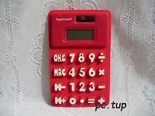 Magnet Tupperware (pas porte-clés, not keychain) Calculatrice en silicone rouge