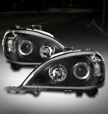 FOR 98-05 MERCEDES-BENZ ML-CLASS W163 BLACK PROJECTOR HEADLIGHT LEFT+RIGHT PAIR