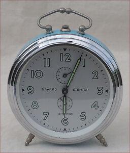 French BAYARD STENTOR Repetition Alarm Clock Phosphorescent Vintage