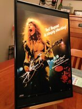 "BIG 11X17 FRAMED ORIGINAL TED NUGENT ""STATE OF SHOCK"" LP ALBUM CD PROMO AD"