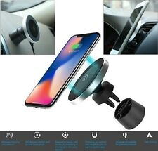 Qi Wireless Car Charger Magnetic Air Vent Mount Phone Holder Samsung Galaxy S8 9