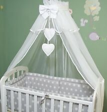 10p Crib Bedding Set to fit Crib Cradle Swinging Crib  Canopy Drape 100%COTTON!