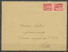 Oct 1940 Env. Oblitérée cachet de fortune de Féron Nord à Lille P2992