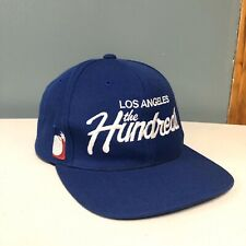The Hundreds Los Angeles Blue Embroidered Script Spell Out Snapback Hat Bomb