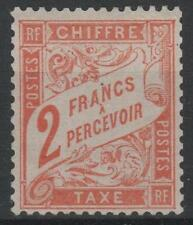 "FRANCE STAMP TIMBRE TAXE N° 41 "" TYPE DUVAL 2F ROUGE-ORANGE "" NEUF xx TB  M641"