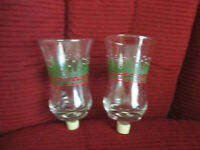 Set of 2 VintagHome Interiors Christmas Votive Cup Candle Holder Holly Pine Tree
