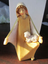 "ROMAN Female Shepherd W/ Lamb Figurine 5 1/2"" tall 38574"