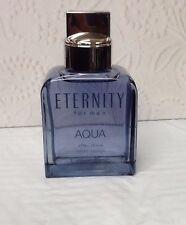 Eternity AQUA Calvin Klein AFTER SHAVE 3.4 OZ SPLASH **NO BOX* **NEW NEVER USED