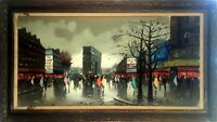 Antonio Devity, late Fall Parisian Street Scene 1901-1993