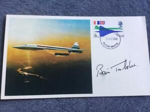 First day cover innaugural flight Concorde 001 1969 Hand Signed Brian Trubshaw