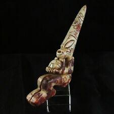 Ancient Pre-Columbian Mesoamerican Ojuelos de Jalisco Alien Stone Knife