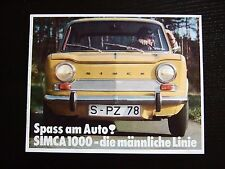 Prospekt Simca 1000 1967