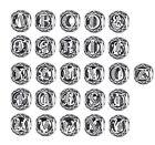 Authentic S925 Sterling Silver Charm Alphabet Letter Fit European Bracelet PD6