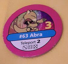 #63 ABRA PINK CHIP Pokemon master trainer Part Piece Board Game Original